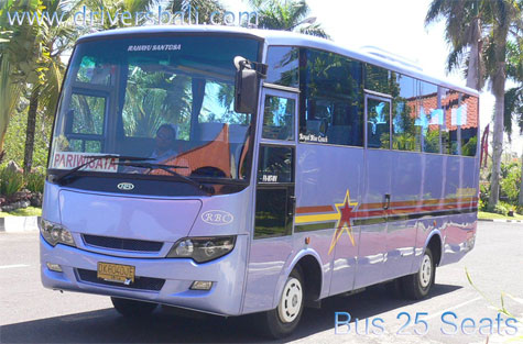 charter bus 25 seats and driver