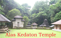 alas kedaton temple at kukuh village