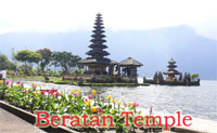 ulun danu temple at beratan lake