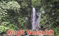 waterfall at gitgit village