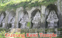 rock temple at gunung kawi temple