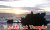 sunset at tanah lot temple