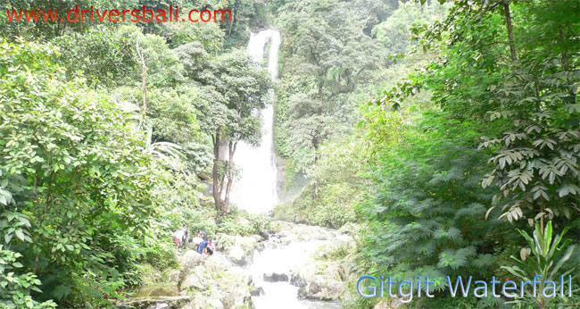 the big waterfall at gitgit country side bali