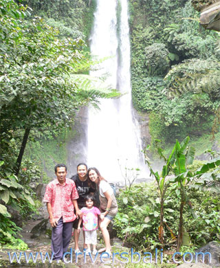 our guest at gitgit waterfall bali