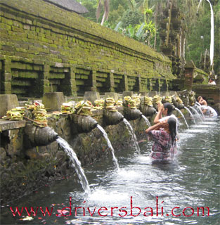 holy spring water at tirta empul tampak siring