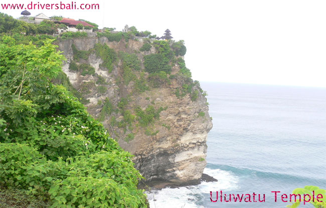 uluwatu temple located on the cliff pecatu