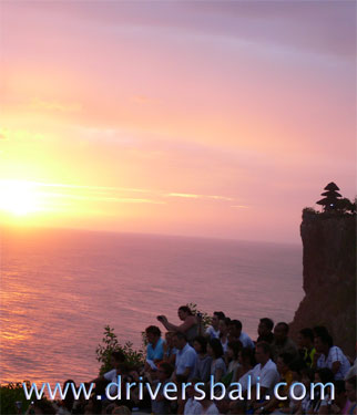 sunset and kecak dance at uluwatu temple
